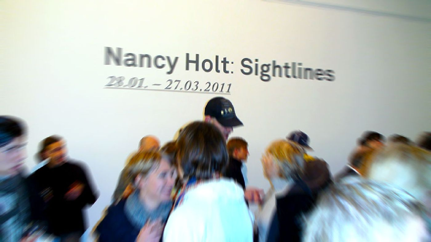 'Nancy Holt: Sightlines' opening reception, Karlsruhe, Germany, Jan 27, 2011